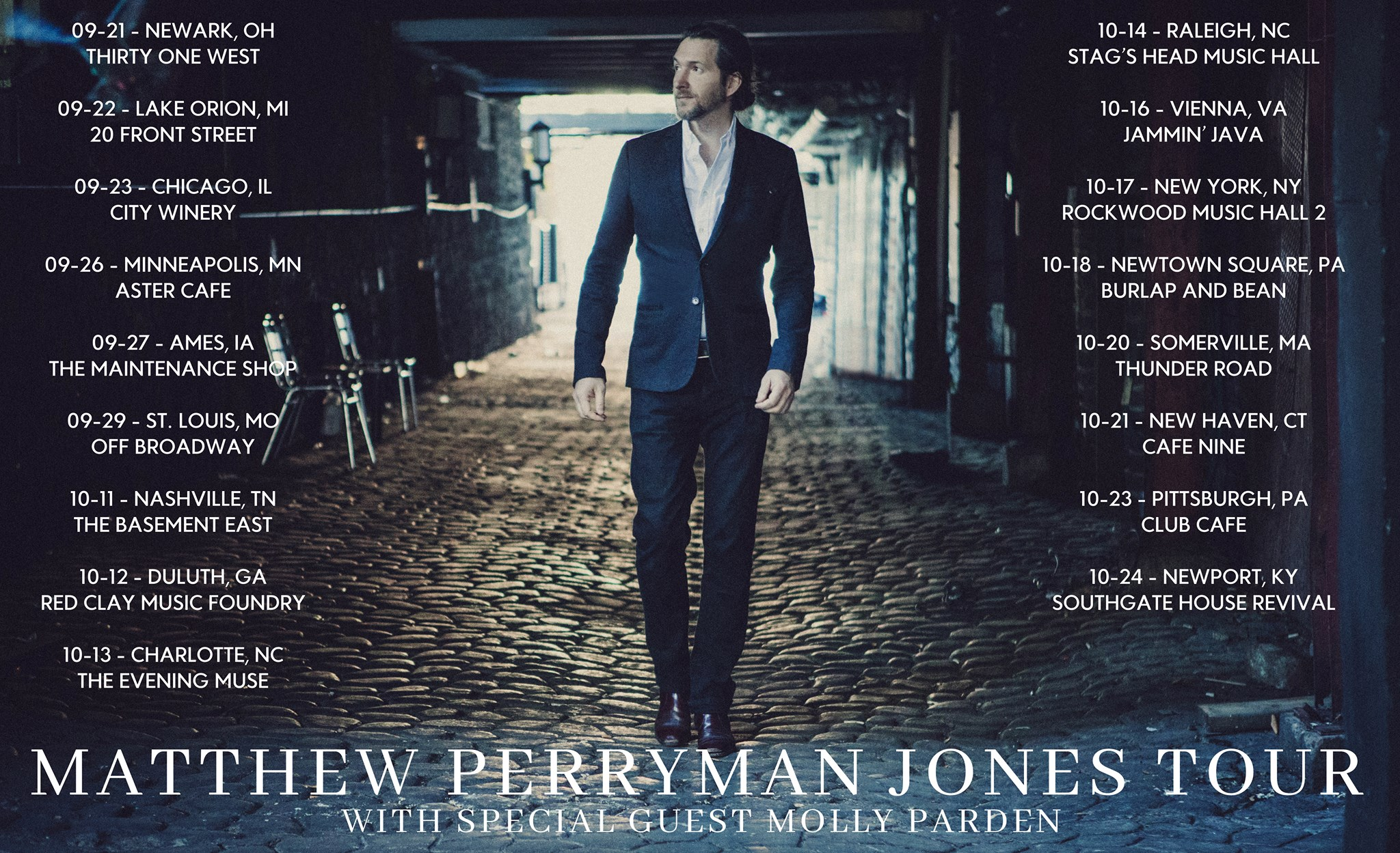 Matthew Perryman Jones 2018 tour poster
